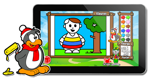 Kleurplaten Inkleuren Op Ipad.Finger Fun Kinder Touchscreen Speel Software