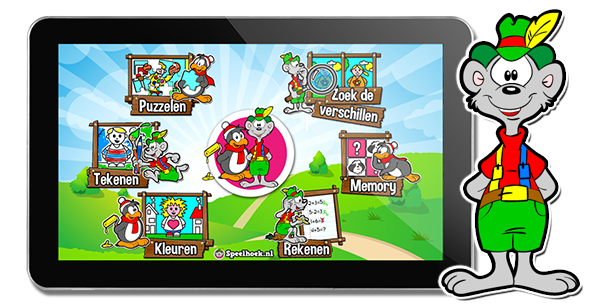 kinder tablet met finger fun software